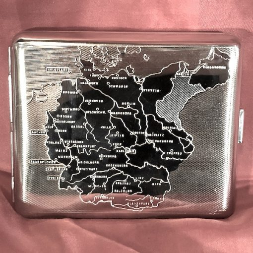 1938 German Map Cigarette Case WW!! WW2