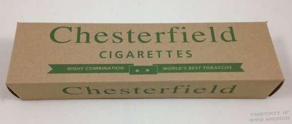 Chesterfield Cigarette Carton