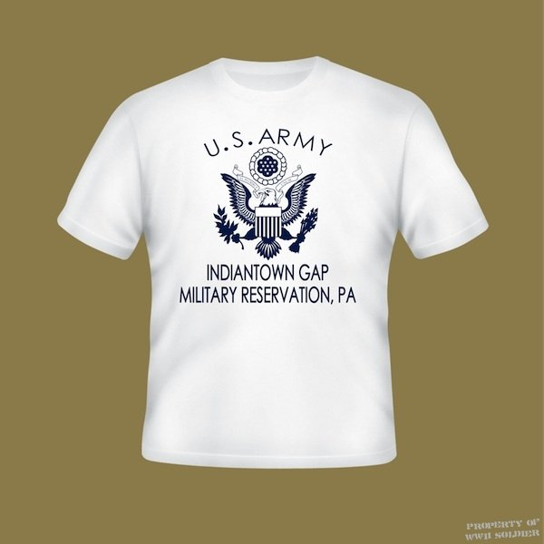 WWII Fort Indiantown Gap T Shirt, Military Reservation PA