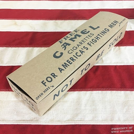 WWII Camel Cigarette Carton Americas Fighting men WW2