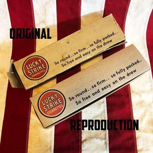 WWII Lucky Strike White Carton Original vs Reproduction
