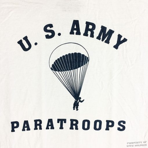 WWII Paratrooper T shirt WW2 Airborne reproduction