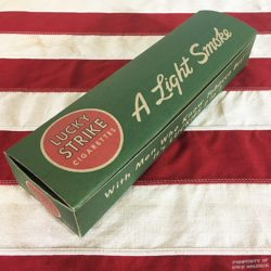 WWII Lucky Strike Cigarette Carton Light Smoke WW2