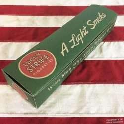 WWII Lucky Strike Cigarette Carton Light Smoke WW2