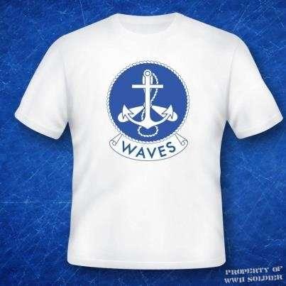 Women's Navy WAVES  PT Shirt