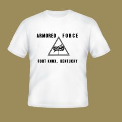 WWII Armored Force T shirt Fort Knox WW2