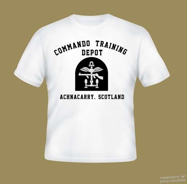 WWII Commando T Shirt, Training Depot Achnacarry