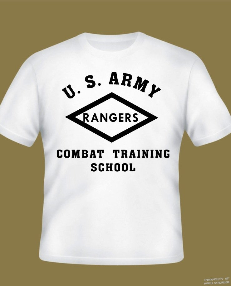 U S Army Ranger Combat Training School Pt Shirt Wwii Soldier