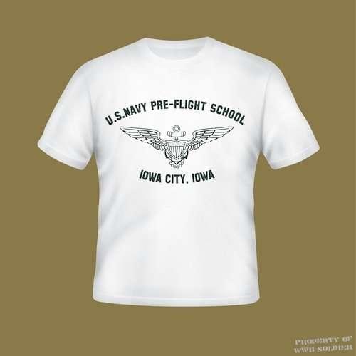 U.S. Navy Pre-Flight School Iowa City, Iowa PT Shirt