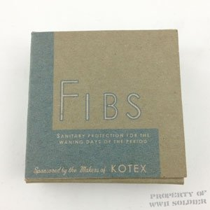 Fibs Sanitary Protection - WWII Soldier