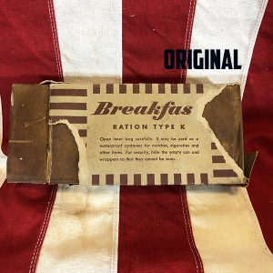 Original WWII Breakfast late war k ration