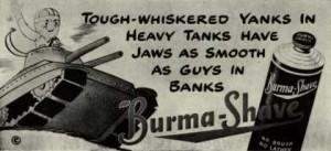 WWII Burmashave Shaving Ad