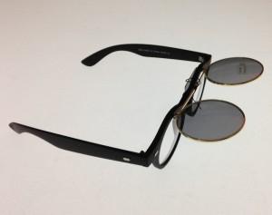 Sunglasses flip black