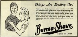 WWII Burma Shave Ad