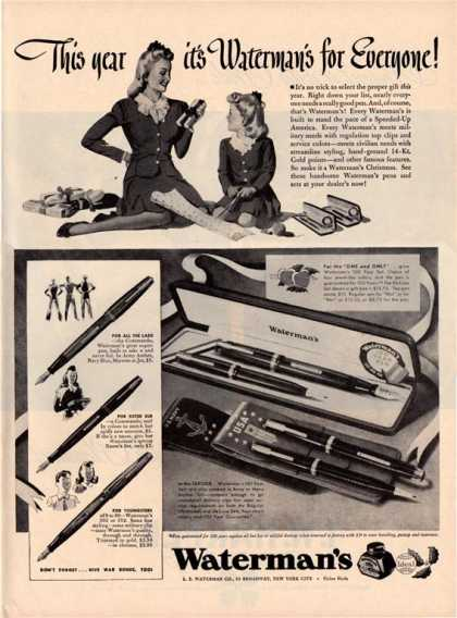 V-mail:  Fountain Pens during the War