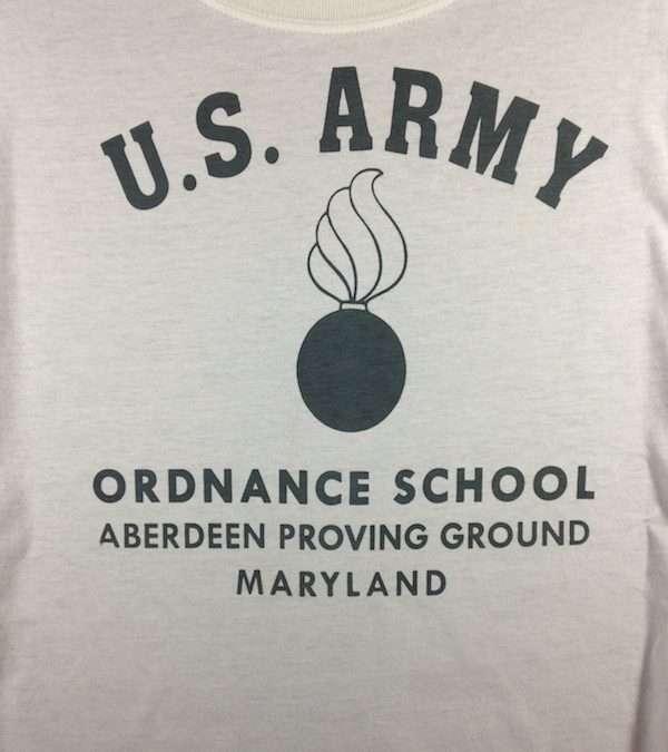 WWII Ordnance School T Shirt, Aberdeen Proving Ground