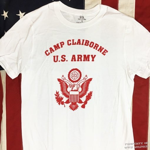 WWII Camp Claiborne T Shirt, WW2