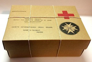 POW British Red Cross Stringed Box