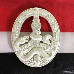 WWII German Anti Partisan War Badge Silver, ww2 reproduction