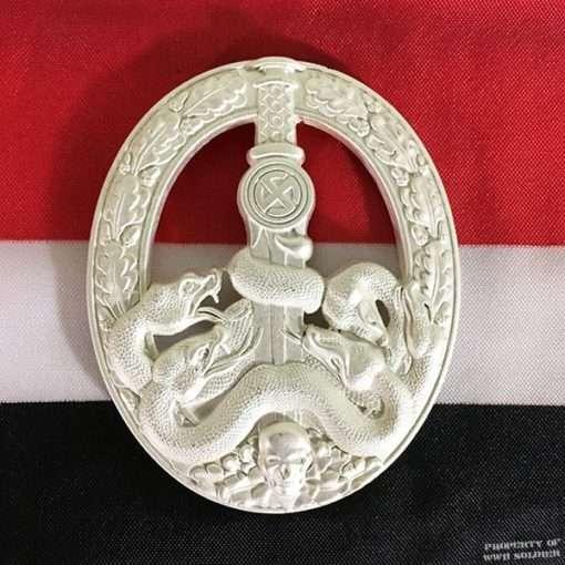 WWII German Anti Partisan War Badge Silver, ww2 reproduction