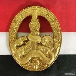 WWII German Anti Partisan War Badge Gold, ww2