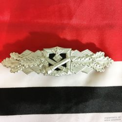 WWII German Close Combat Clasp Silver Finish Reproduction, ww2 badge