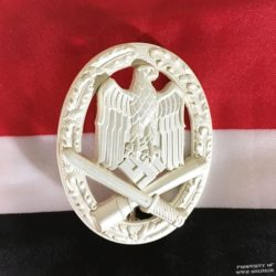 WWII German General Assault Badge Silver Finish ww2 reproduction