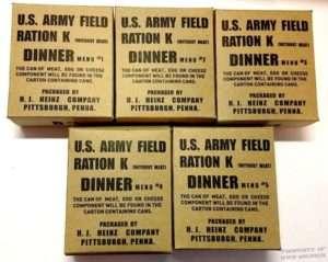 army field ration k dinner 1 2 3 4 5