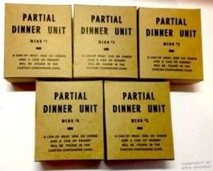 partial dinner menu set 1 2 3 4 5