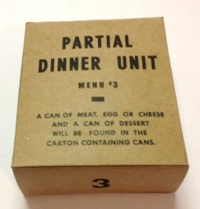 partial dinner menu unit 3