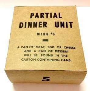 partial dinner menu unit 5