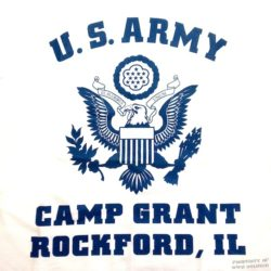 WWII Camp Grant Rockford IL T Shirt WW2