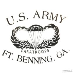 WWII Paratroops Fort Benning T Shirt WW@
