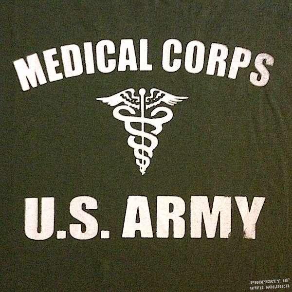 Medical Corps U.S. Army, Caduceus, OD Green shirt
