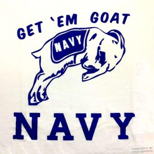 USN Get Em Goat T Shirt, Navel Academy