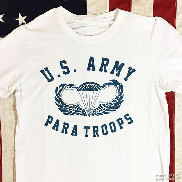 WWII Airborne Jump Wings T Shirt, U.S. Army Paratroops Repro