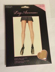 Pantyhose backseam Cuban Heel Nude Queen size