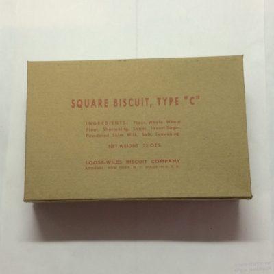 WWII Biscuit Box ww2`