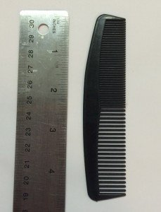 black short plastic comb