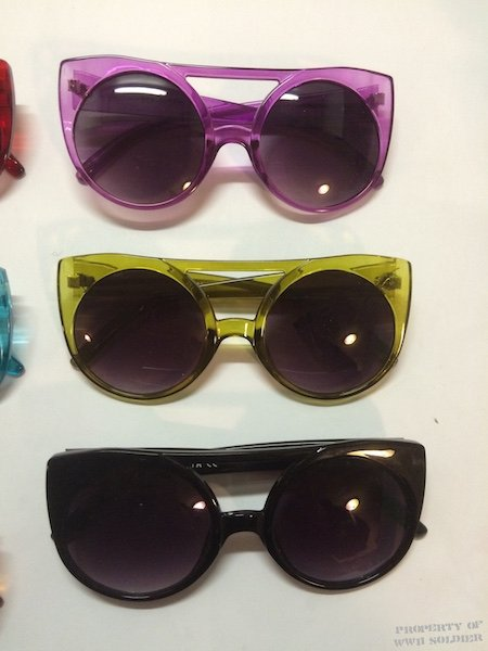 flat bridge color 3 sunglasses