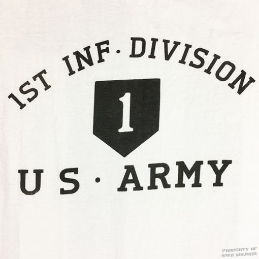 WW2 first inf div t shirt