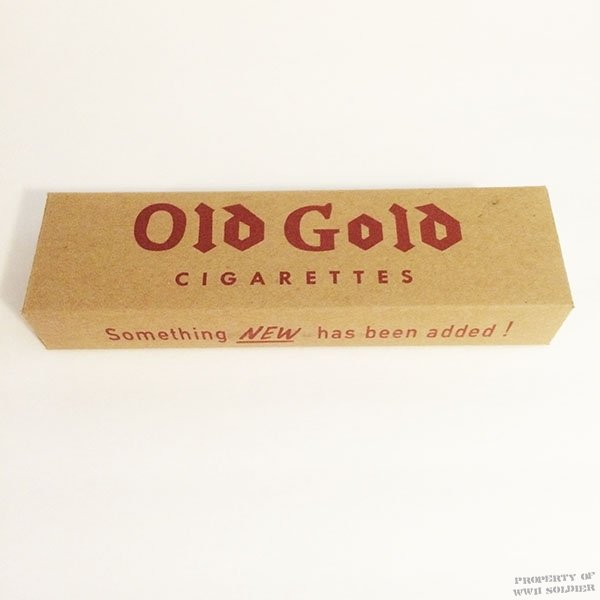 Old Gold Cigarette Carton, WWII US Army Reproduction 1940's