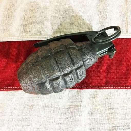 WWII Pineapple Grenade demilliterized , ww2