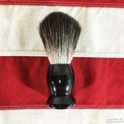 Black Wood Handle Shaving Brush WW@