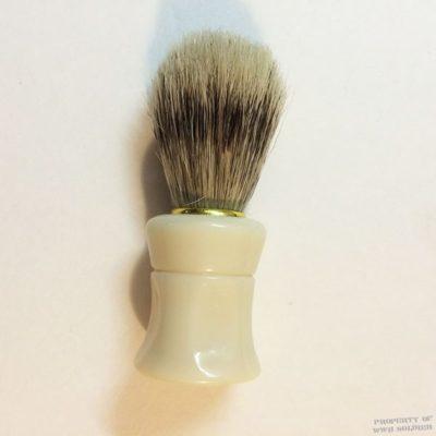 Shaving Brush Faux Bone Handle