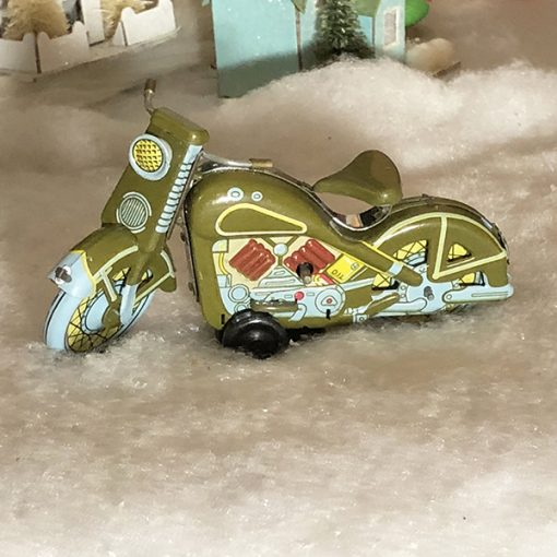 Harley Davidson 1958 Motorcycle Tin Toy Green Classic
