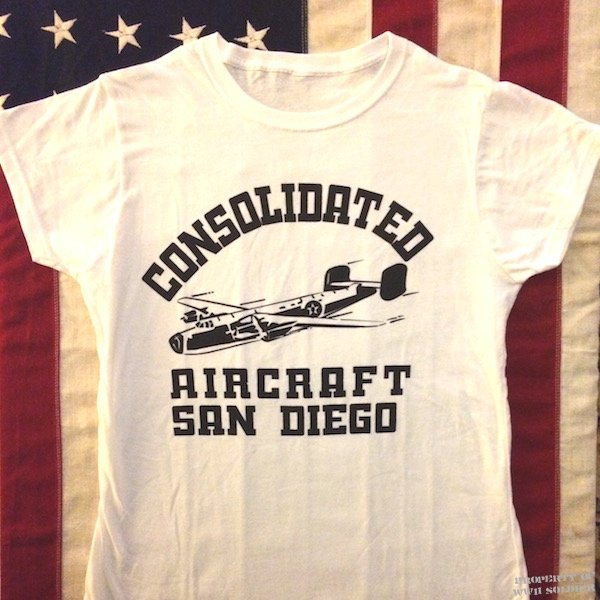 Consolidated Aircraft Factory Rosie the Riveter T Shirt