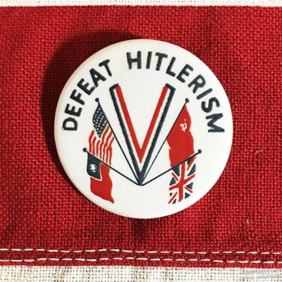 Defeat Hitlerism Pin WWII WW@