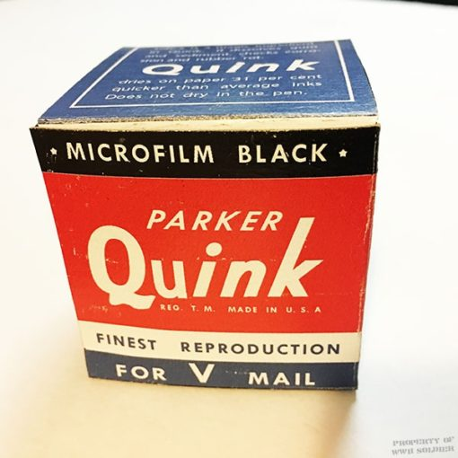 WWII Quink Ink Box