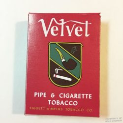 WWII Velvet Tobacco Box ww2